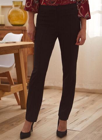 Pantalon coupe cité à jambe droite, Noir,  pantalon, cité, droit, poches, pinces, automne hiver 2021