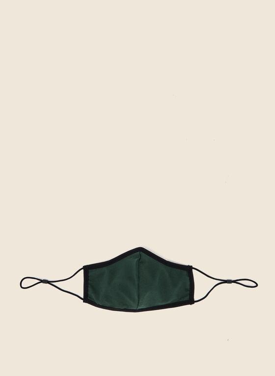 Masque en tissu uni en coton, Vert