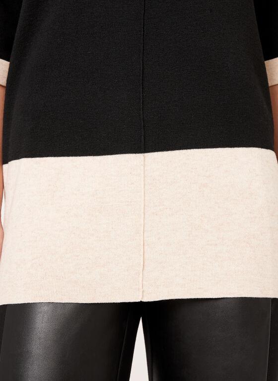 Pull manches coude à blocs de couleurs, Noir, hi-res
