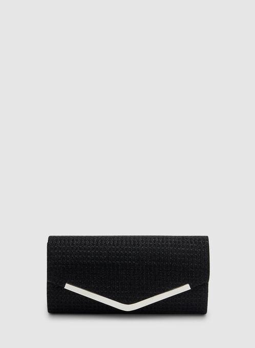 Envelope Clutch, Black, hi-res