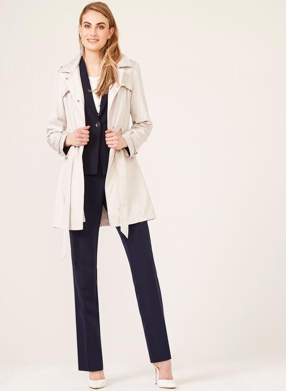Pantalon coupe moderne à œillets métalliques, Bleu, hi-res