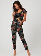 Hamilton - Pyjama deux pièces à fleurs et pois , Rouge, hi-res