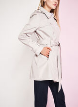 Novelti - Trench imperméable irisé, Blanc cassé, hi-res