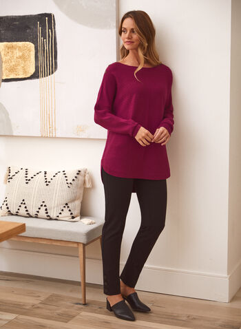 Pantalon pull-on à jambe étroite, Noir,  pantalon, pull-on, étroite, automne hiver 2020