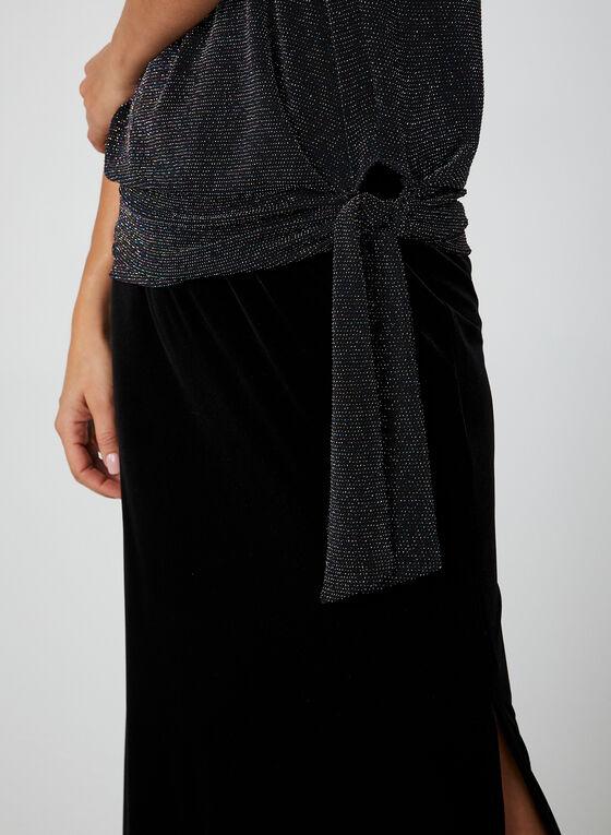 Metallic Knit Top, Black