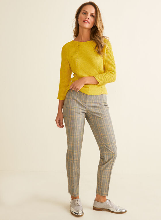 3/4 Dolman Sleeve Knit Sweater, Yellow