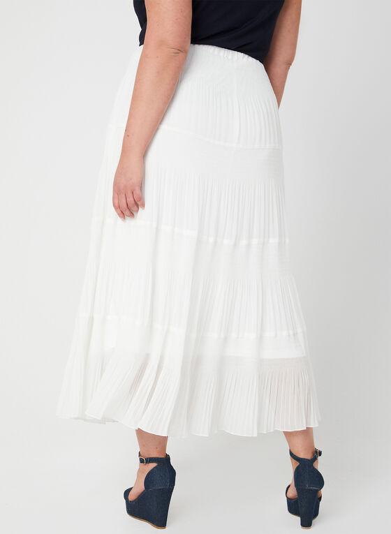 Alison Sheri - Tiered Maxi Skirt, White