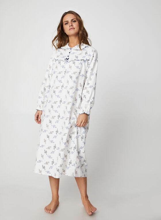 Karmilla Lingerie - Leaf Print Nightshirt, White