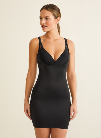 Naomi & Nicole - Back Magic® Sculpting Shapewear Slip, Black,  shapewear, back magic, sculpting, large straps, wonderful edge