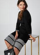 Fit & Flare Sweater Dress, Black