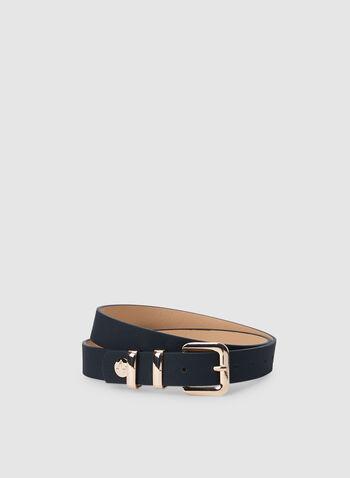 Adrienne Vittadini – Faux Leather Belt, Black, hi-res,  leather belt