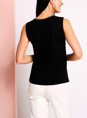 Sleeveless Henley Camisole, , hi-res