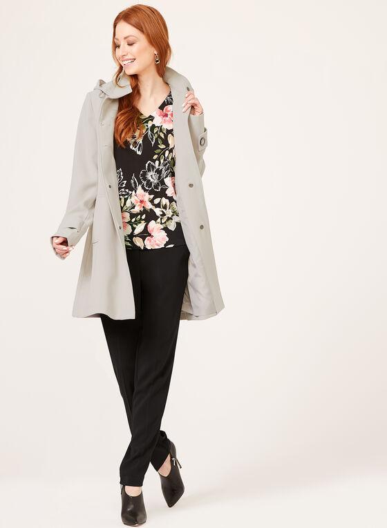 Manteau imperméable à capuchon amovible, Gris, hi-res