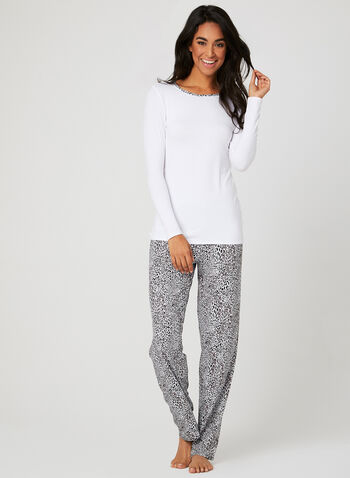 Hamilton – Animal Print Pyjama Set, Grey, hi-res