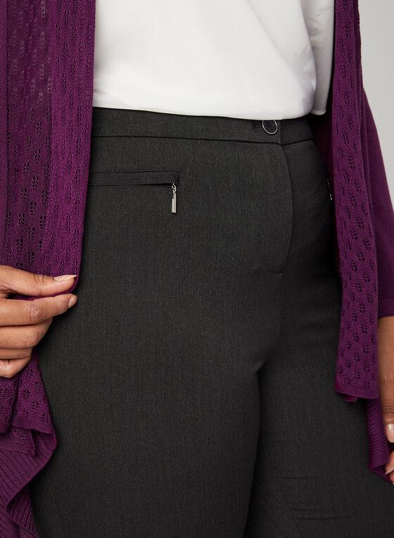 Pantalon coupe signature à jambe droite, Gris, hi-res