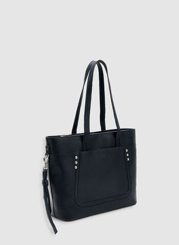 Studded Tote Bag, Blue, hi-res