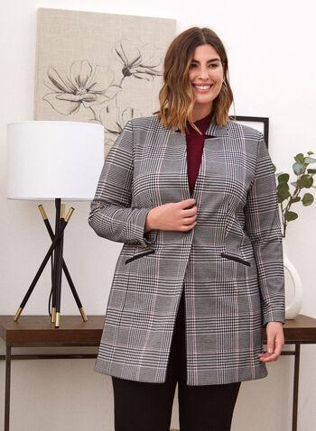 Tartan Print Redingote, Black,  jacket, redingote, tartan, fall winter 2020