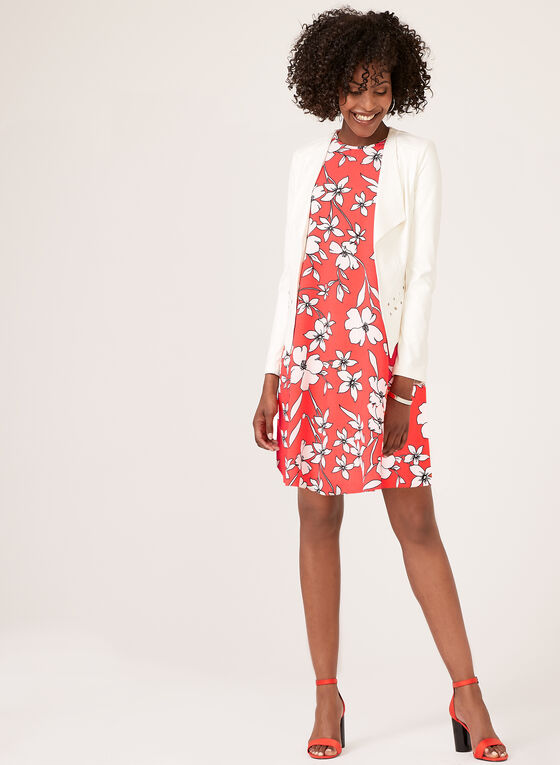 Jessica Howard - Floral Print Swing Dress, Orange, hi-res