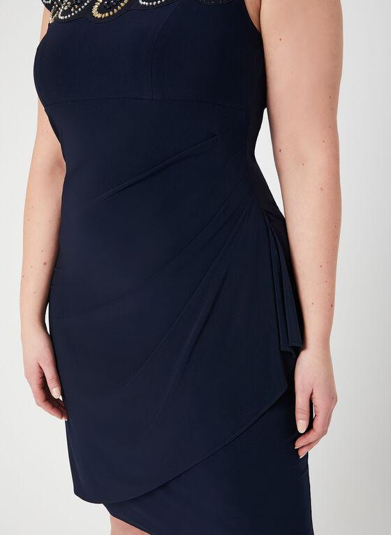 Joseph Ribkoff - Illusion Neck Dress, Blue, hi-res