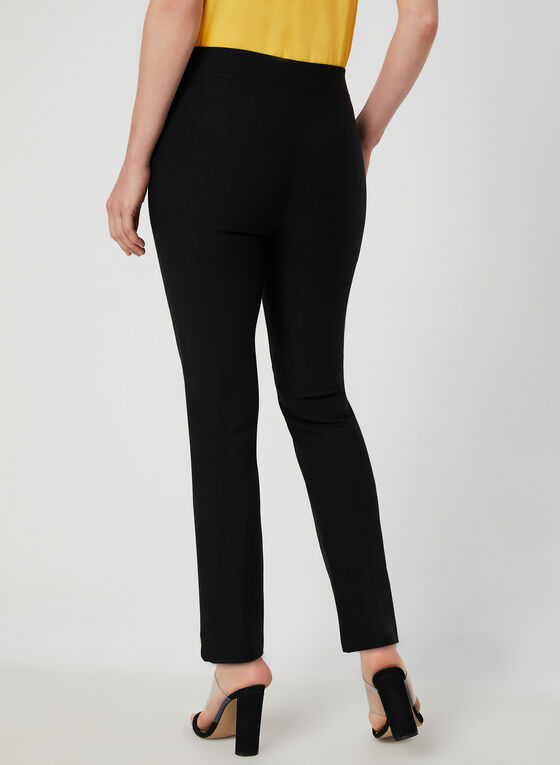 City Fit Slim Leg Pants, Black