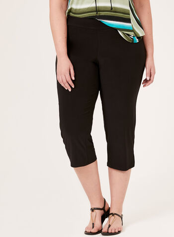 Pull-On Capri Pants, Black, hi-res