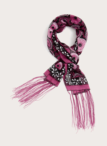 Abstract Glitter Pashmina Scarf, Pink, hi-res