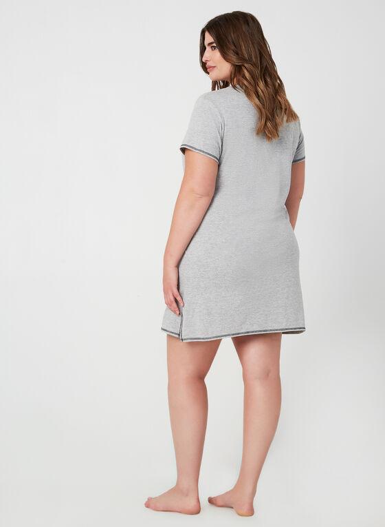 René Rofé - Short Sleeve Nightgown, Grey, hi-res