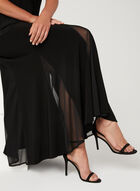 Mesh Insert Jersey Knit Skirt, Black, hi-res