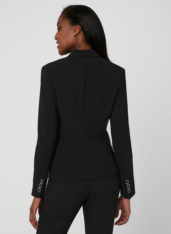 Notch Collar Blazer, Black, hi-res