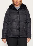 Nuage - Faux Fur Reversible Coat, Black, hi-res