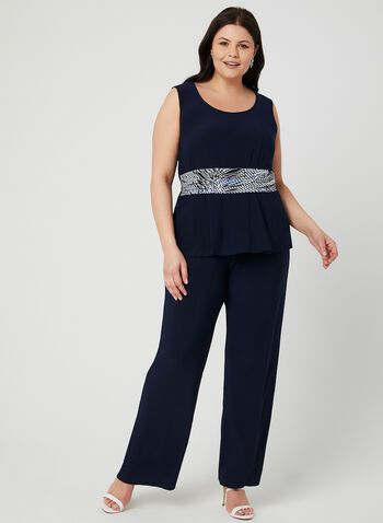 3-Piece Pantsuit, Blue, hi-res