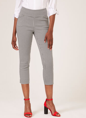 Jules & Leopold - Pull-On Bengaline Capri Pants, Black, hi-res