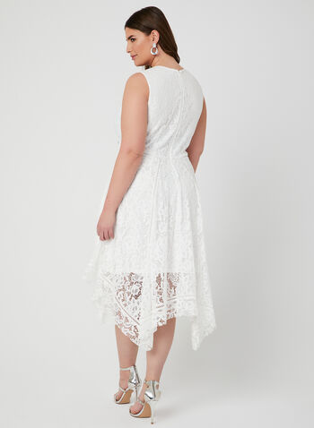 Fit & Flare Lace Dress, White, hi-res