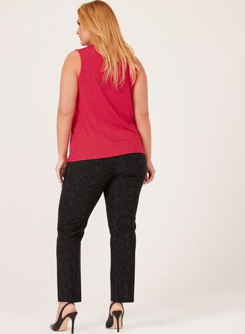 Sleeveless Jersey Top, Red, hi-res