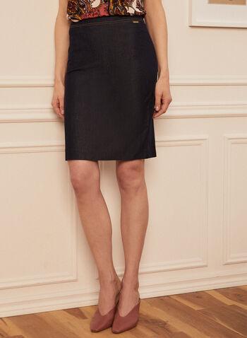 Denim Pencil Skirt, Blue,  skirt, pencil skirt, denim, denim skirt, jean skirt, spring 2020, summer 2020