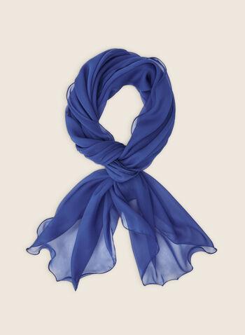 Foulard pashmina en mousseline, Bleu,  foulard, pashmina, uni, léger, mousseline, printemps été 2020