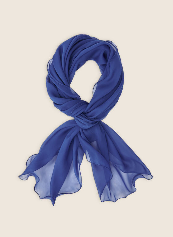 Sheer Pashmina Scarf , Blue