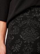 Baroque Print Pull-On Pants, Black, hi-res