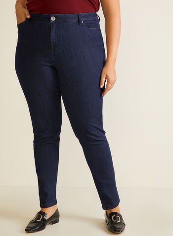 Straight Leg Jeans, Blue,  fall winter 2020, pants, jeans, straight leg, model, basic, essential, denim, pocket, zipper, button, comfort, bottoms