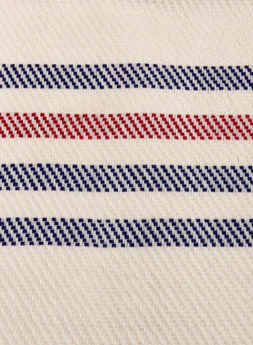 Foulard tricot à franges et à rayures, Brun, hi-res