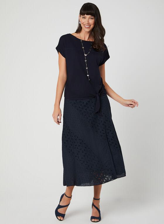 Cotton Maxi Skirt, Blue, hi-res