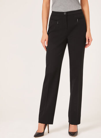 Signature Fit Straight Leg Pants, Black,