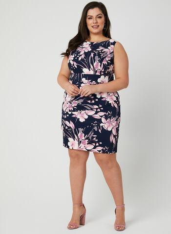 Floral Print Dress, Blue, hi-res,  sleeveless, layered, spring 2019