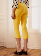 Pull-On Slim Leg Capris, Yellow