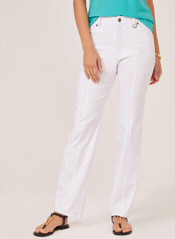 Simon Chang - Signature Fit Straight Leg Pants, White, hi-res