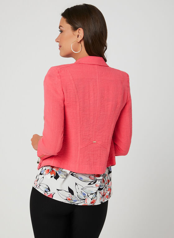 Vex- Open Front Jacket, Orange, hi-res