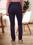Straight Leg Pull-On Jeans, Blue