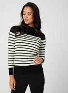 Striped Lurex Sweater, Black
