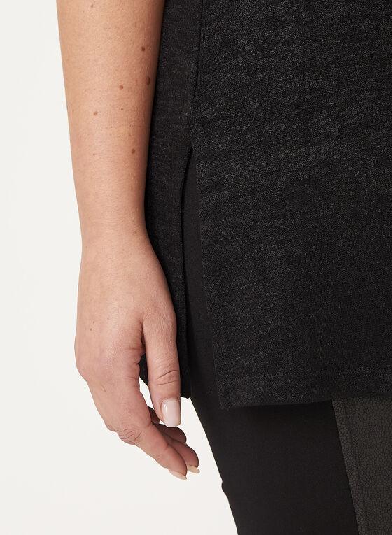 Haut sans manches en tricot, Noir, hi-res