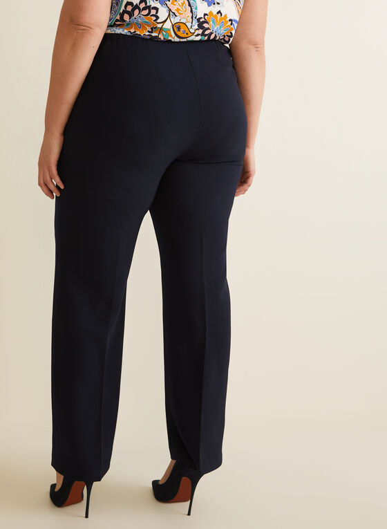 Modern Straight Leg Pants, Blue